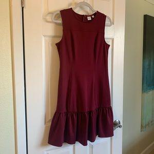 Gap Dress Maroon color.